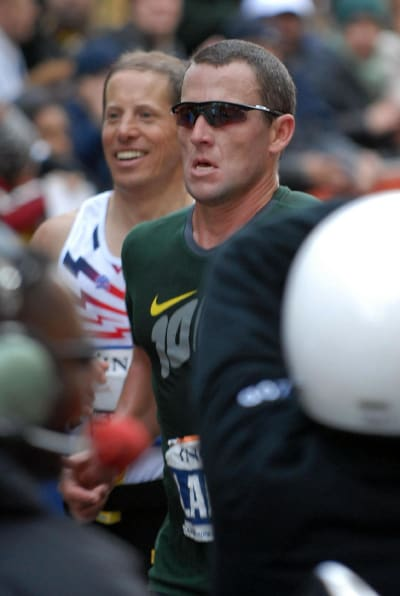 Lance Armstrong Running