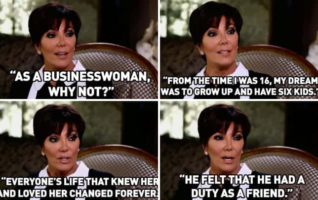 9 kris jenner secrets and admissions she agreed to keeping up with the kardashians