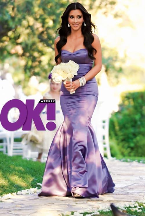 Bridesmaid Kim Kardashian
