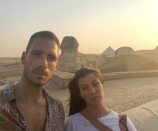 Kourtney Kardashian and Simon Huck in Egypt