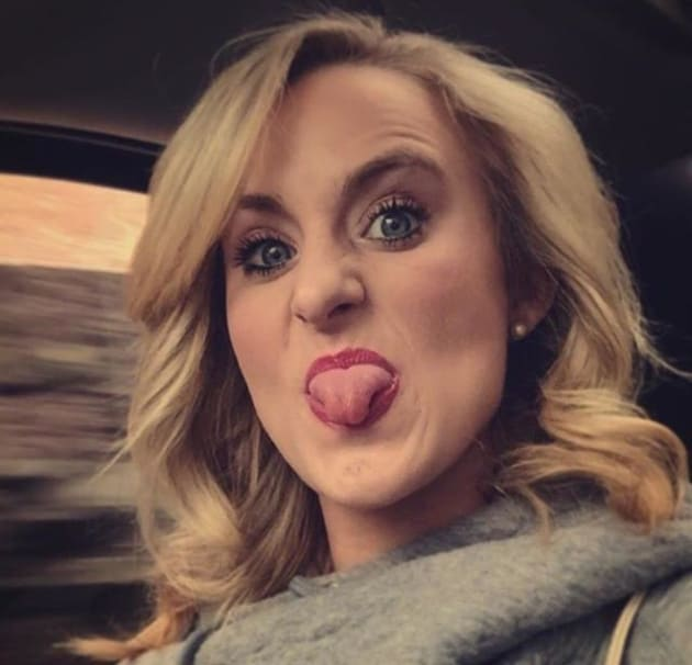 Leah Messer Sticks Her Tongue Out
