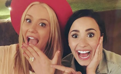 Iggy Azalea Hangs with Demi Lovato, Shows Off HUGE Engagement Ring