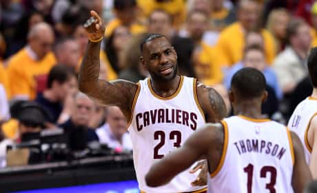 LeBron James Tristan Thompson NBA Playoffs 2016