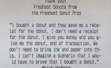 Mitch Hedberg Immortalized on Epic Donut Shop Receipt