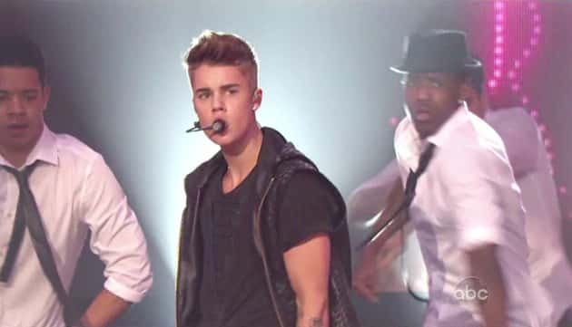 Justin Bieber on New Year's Eve