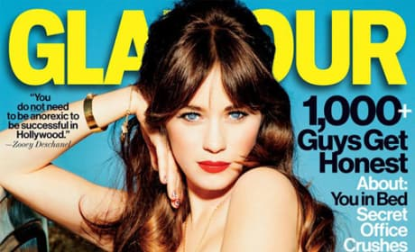 Zooey Deschanel Glamour Cover