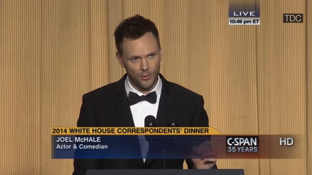 Joel mchale at the white house correspondents dinner