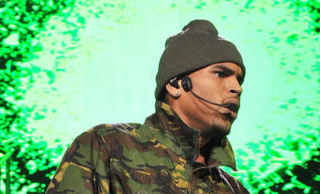 Chris Brown Rocks Out