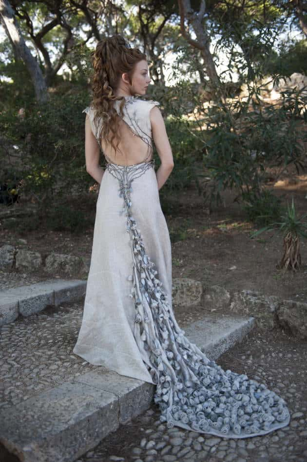 Natalie Dormer: Purple Wedding Gown