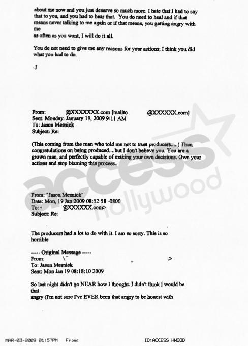 Jason Mesnick-Melissa Rycroft Email: Part III