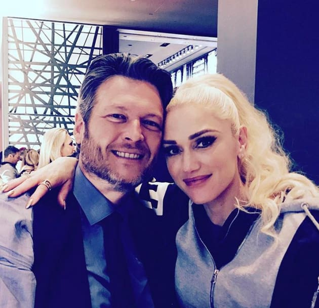 Blake Shelton and Gwen Stefani, in a Normal Photo