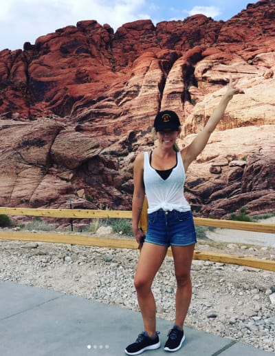 Kendra Wilkinson and Some Rocks