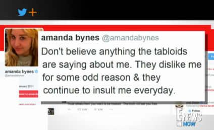 Amanda Bynes Returns to Twitter, Tells Followers: Don't Believe the Tabloids!!