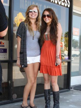 Miley and a Fan