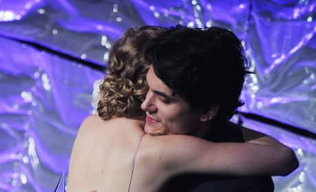 Taylor Swift and John Mayer Hugging Photo