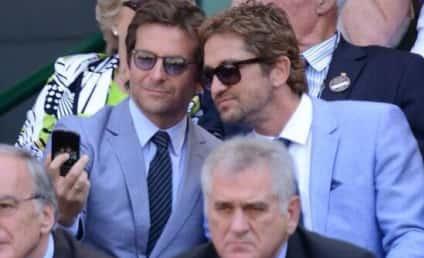 Gerard Butler and Bradley Cooper Snap Selfie at Wimbledon
