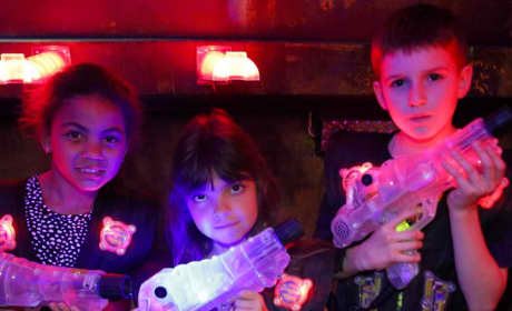 Sophia Abraham and Her Friends Play Laser Tag