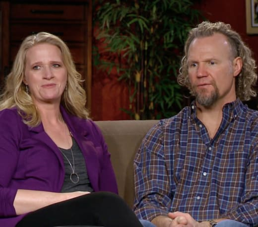 Christine Brown and Kody Brown on Couch