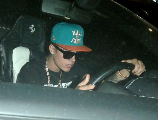 Justin Bieber Driving