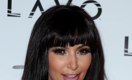 Kim Kardashian: Bangs or Bun?
