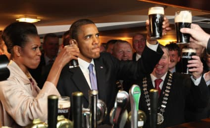 THG Caption Contest Winner: The Obamas in Ireland