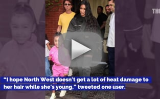 Kim Kardashian: Slammed for Giving Daughter a Ponytail