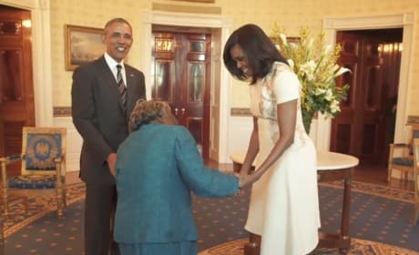 106-Year Old Dances with Joy Upon Meeting the Obamas