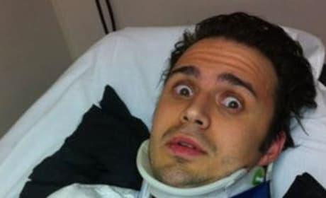 Kris Allen Broken Arm Pic