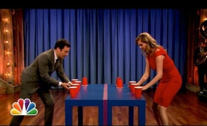 Kate Upton Plays Flip Cup, OWNS Jimmy Fallon