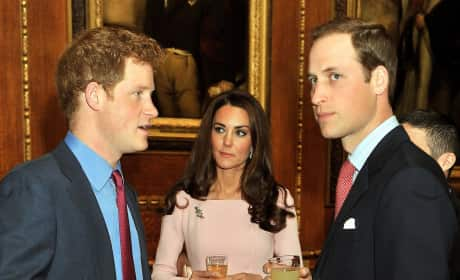 William, Harry and Kate