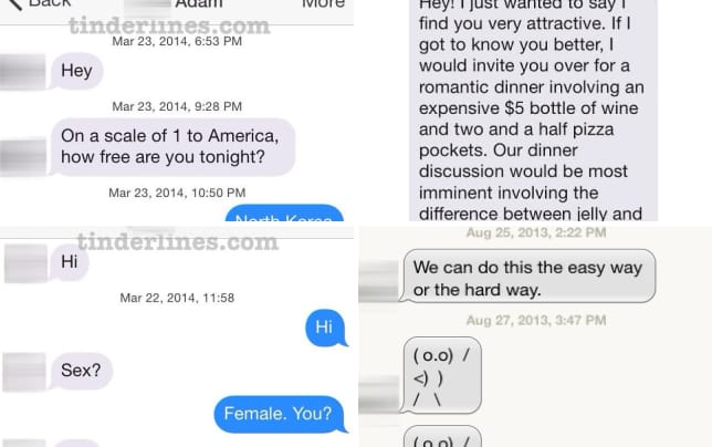 21 best and worst tinder messages kim jong nope