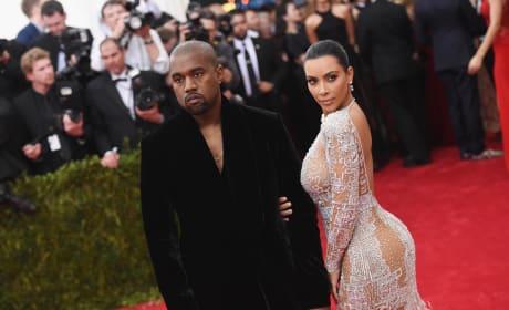 Kim Kardashian Kanye West Sultry Look 2015 Met Gala