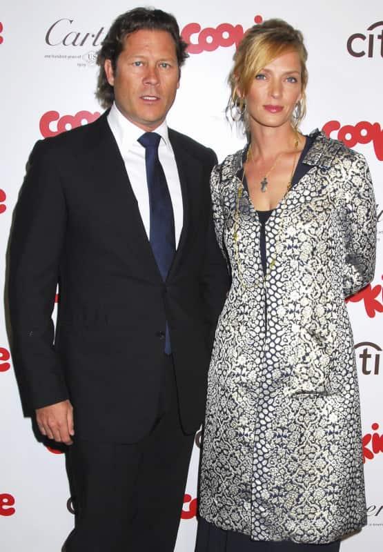 Uma Thurman and Arpad Busson