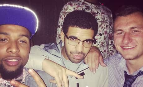 Johnny Manziel and Drake