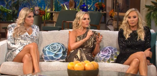 Gina kirschenheiter tamra judge and shannon beador on the couch