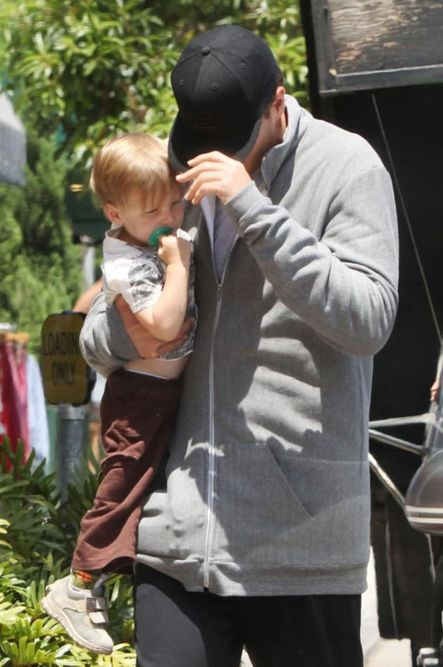 Tom Brady and Son
