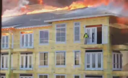 Firefighter Saves Construction Worker from Burning Building: AMAZING Video
