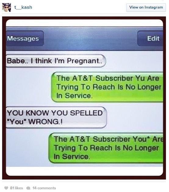 Breakup Text FAIL