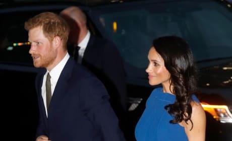 Meghan Markle in Blue Dress: A Photo