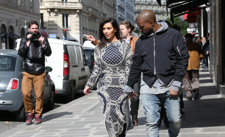 Kanye and Kim in France