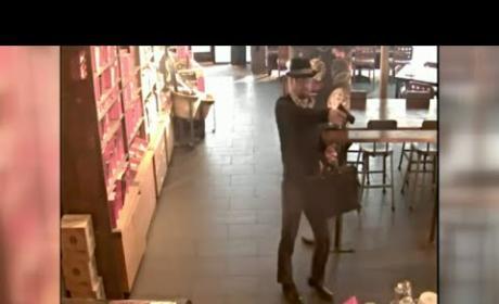 Awesome Criminal Dresses as Heisenberg to Rob Starbucks