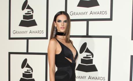Alessandra Ambrosio at the 2016 Grammys