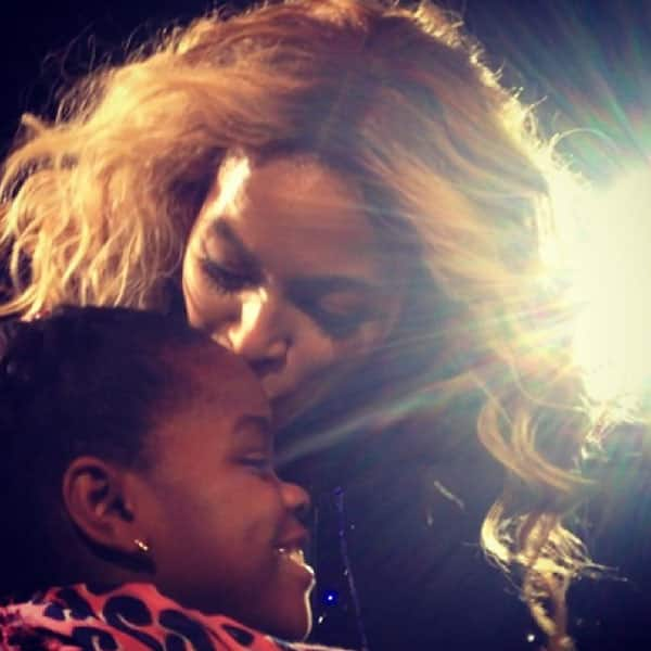 Beyonce Kisses Mercy James