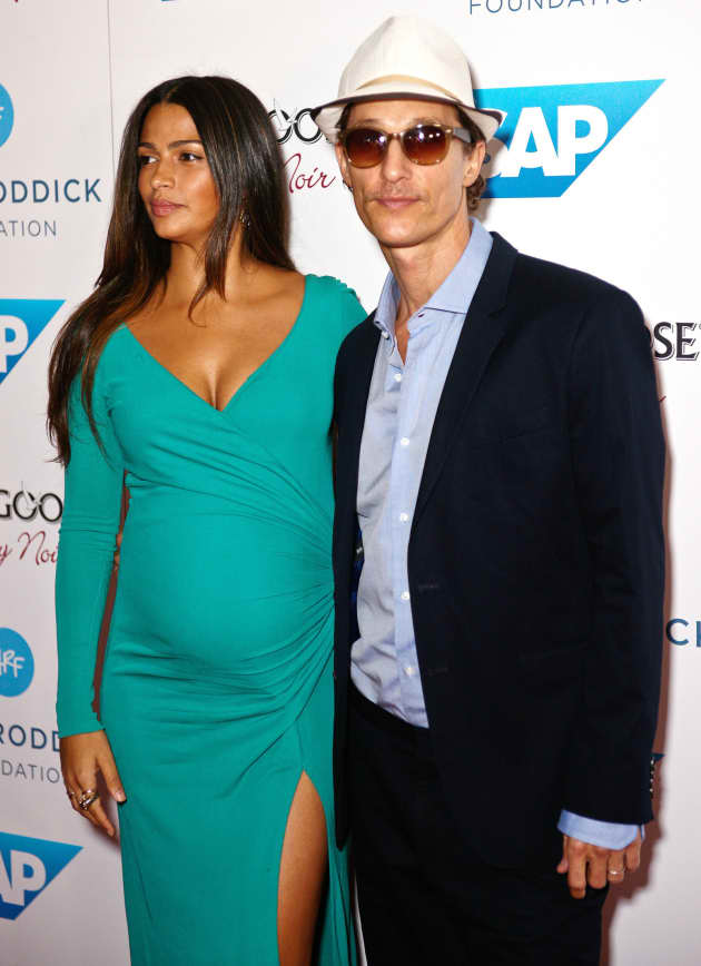 Matthew McConaughey with Camila Alves