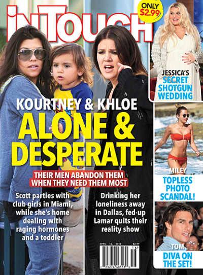 Kim and Khloe Tabloid Cover