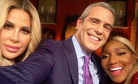 Kim Zolciak, Andy Cohen, and NeNe Leakes Selfie