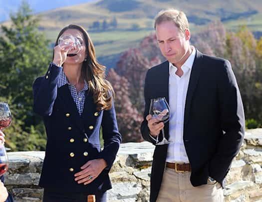 Kate Middleton Drinking Wine