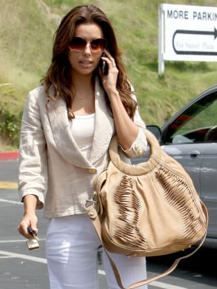 Eva Longoria Long Hair On The Phone