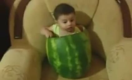 Baby Eats Watermelon Like It's His Job