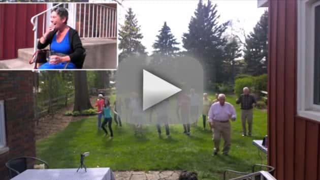 Terminally Ill Woman Treated to Friendly Flash Mob